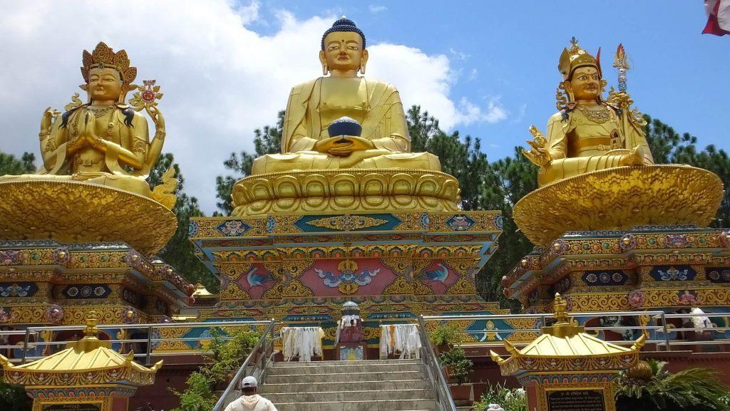 Culturele schatten in Kathmandu – Swayambunath – het Amidevi Buddha Park