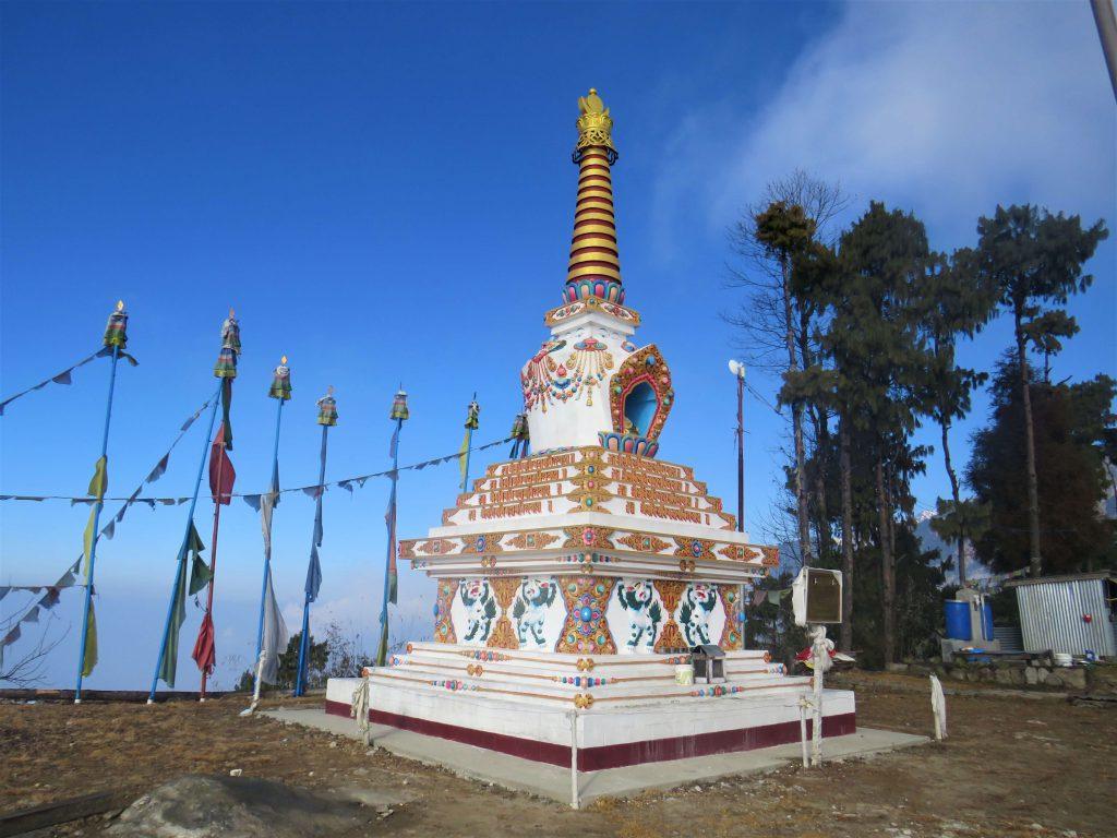 Helambu trek - een stoepa in deze Boeddhistische regio