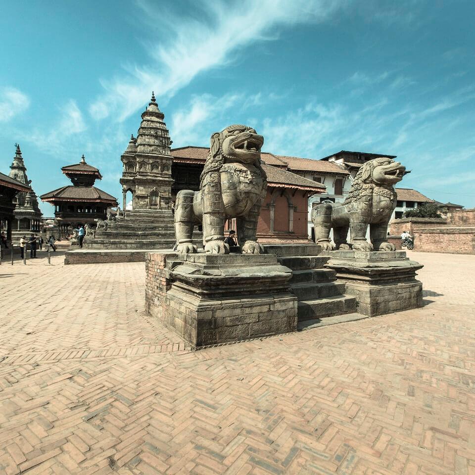 Hoogtepuntenreis Nepal – Koningsplein in Bhaktapur