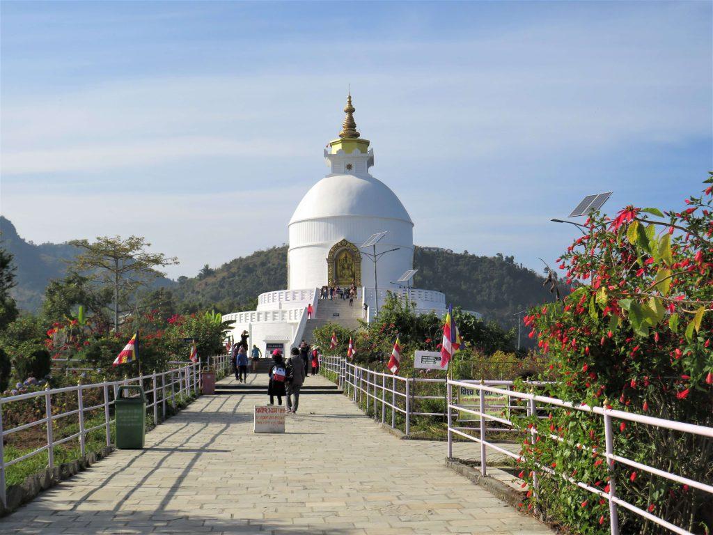 Panchase trekking – de eerste trekkingsdag wandel je naar de World Peace Pagoda
