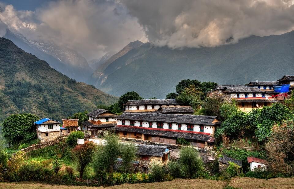 Poon Hill & Muldai Peak trekking – het typische dorp Gurung dorp Ghandruk passeer je tijdens deze trekking
