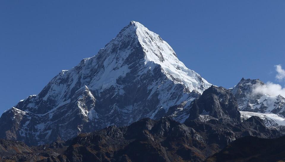 Khopra Ridge trek – zicht op de Annapurna South vanop Khopra Ridge