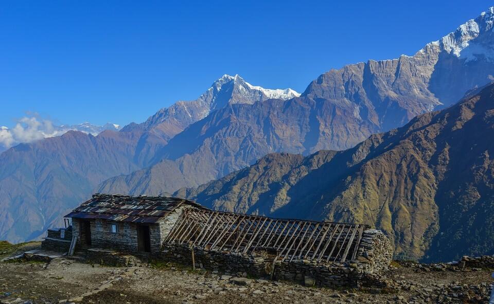 Khopra Ridge trek – zicht op de Himalayas