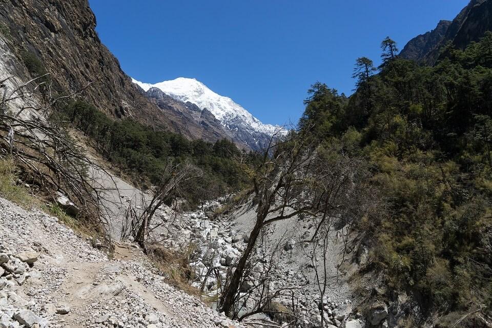 Langtang vallei trekking – landschap tijdens de trekking