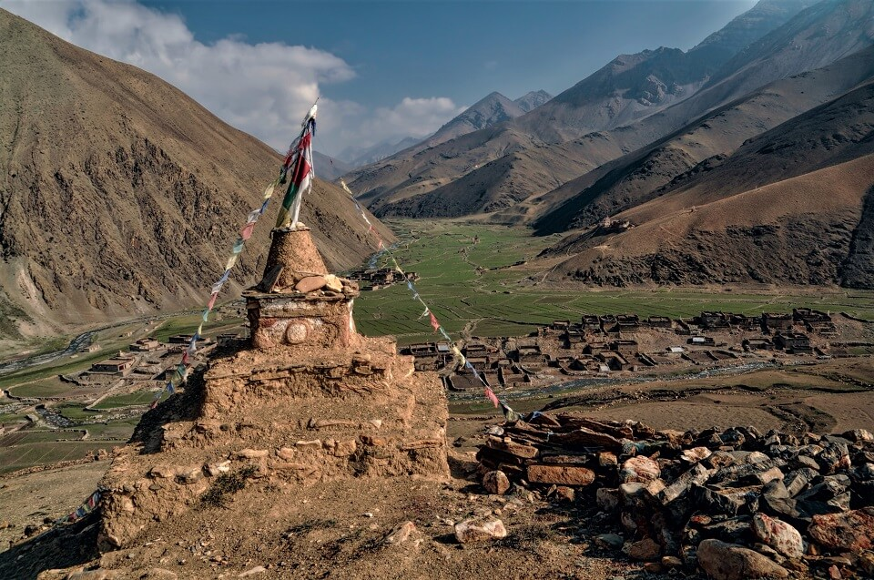 Upper Dolpo trek – Boeddhistische stoepa tijdens de trekking