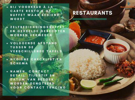 Health en safety richtlijnen in Nepal – restaurants