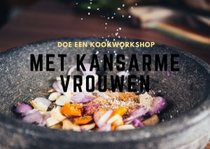 Doe een kookworkshop met kansarme vrouwen