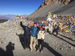 Clients during Annapurna Circuit trekking