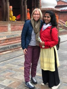 Guide Sunita with solo female traveller